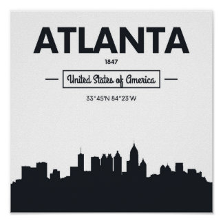 Atlanta, Georgia | City Coordinates Poster