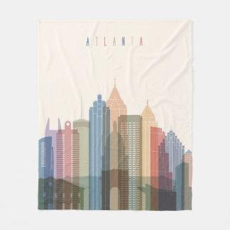 Atlanta, Georgia | City Skyline Fleece Blanket