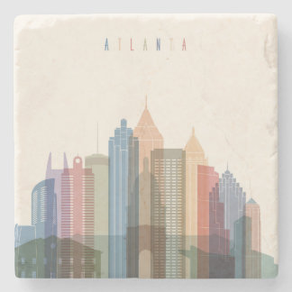 Atlanta, Georgia | City Skyline Stone Beverage Coaster