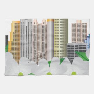 Atlanta Georgia City Skyline with Dogwood Towel