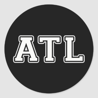 Atlanta Georgia Classic Round Sticker