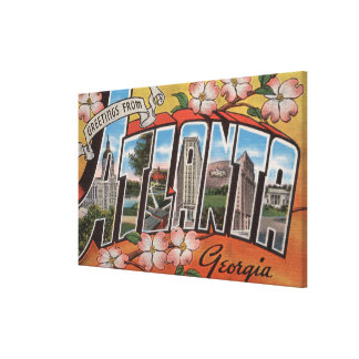Atlanta, Georgia - Large Letter Scenes 3 Canvas Print