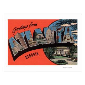 Atlanta, Georgia - Large Letter Scenes Post Card