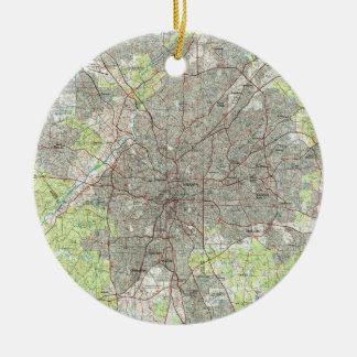 Atlanta Georgia Map (1981) Ceramic Ornament