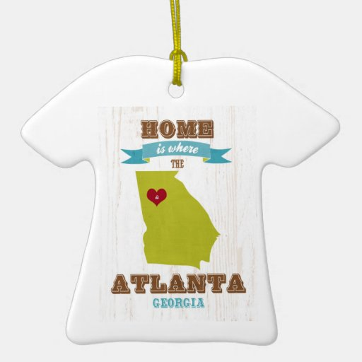 Atlanta, Georgia Map – Home Is Where The Heart Is Ornaments
