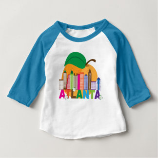 Atlanta, Georgia | Peach Skyline Baby T-Shirt