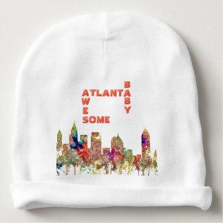 Atlanta Georgia Skyline SG-Faded Glory Baby Beanie