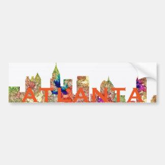 Atlanta Georgia Skyline SG-Faded Glory Bumper Sticker