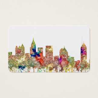 Atlanta Georgia Skyline SG-Faded Glory Business Card