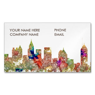 Atlanta Georgia Skyline SG-Faded Glory Magnetic Business Card