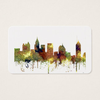 Atlanta Georgia Skyline SG-Safari Buff Business Card