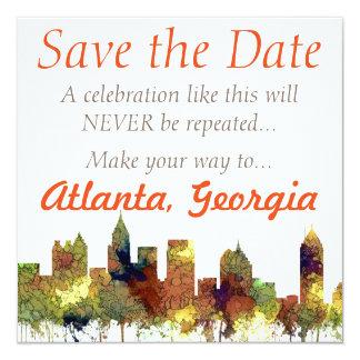 Atlanta Georgia Skyline SG-Safari Buff Card