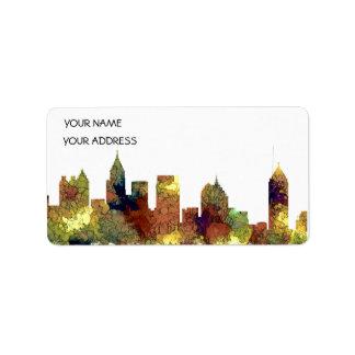 Atlanta Georgia Skyline SG-Safari Buff Label