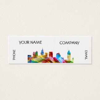 ATLANTA GEORGIA SKYLINE VIBRANCE - MINI BUSINESS CARD