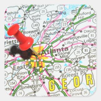 Atlanta, Georgia Square Sticker