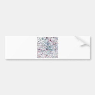 atlanta map painting bumper sticker