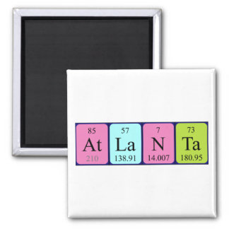 Atlanta periodic table name magnet