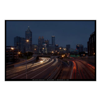 Atlanta Skyline at Dusk Poster