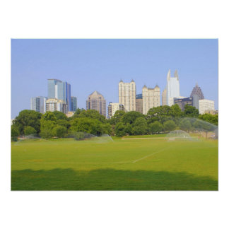 Atlanta Skyline  from Piedmont Park Poster