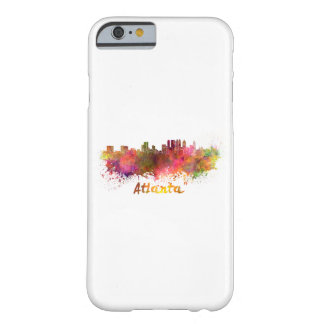 Atlanta skyline in watercolor barely there iPhone 6 case