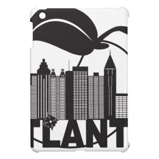 Atlanta Skyline Peach Dogwood Black White Text iPad Mini Cases
