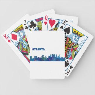 Atlanta Skyline Silhouette Bicycle Playing Cards