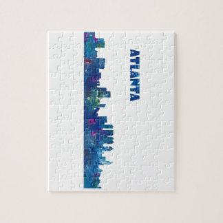 Atlanta Skyline Silhouette Jigsaw Puzzle
