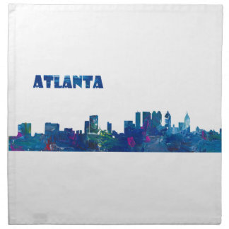 Atlanta Skyline Silhouette Napkin