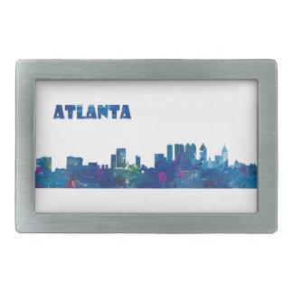 Atlanta Skyline Silhouette Rectangular Belt Buckle