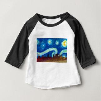 Atlanta Skyline Silhouette with Starry Night Baby T-Shirt