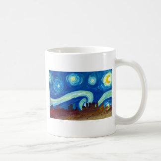 Atlanta Skyline Silhouette with Starry Night Coffee Mug