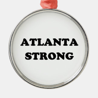 Atlanta Strong Silver-Colored Round Decoration
