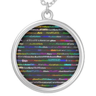 Atlanta Text Design I Round Necklace