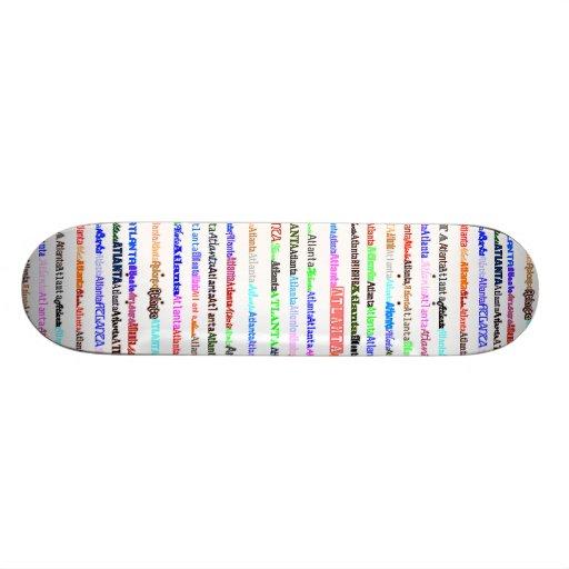 Atlanta Text Design II Skateboard
