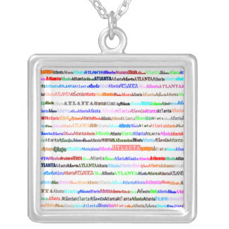 Atlanta Text Design II Square Necklace
