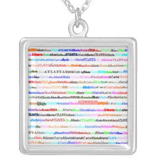 Atlanta Text Design II Square Necklace