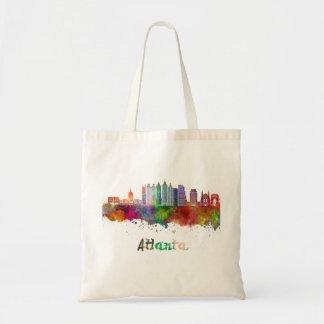 Atlanta V2 skyline in watercolor Tote Bag