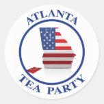 AtlantaTeaParty6 Round Sticker