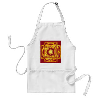 Atlantean Crafts Gold on Red Apron