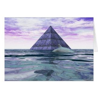 Atlantean Dolphin Temple Greeting Card