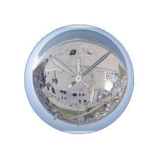 Atlantic Beach NC Tiny Planet clock