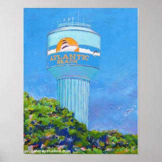 Atlantic Beach (watertower) Poster