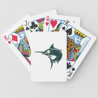 Atlantic Blue Marlin Scraperboard Bicycle Playing Cards