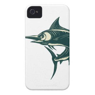 Atlantic Blue Marlin Scraperboard Case-Mate iPhone 4 Case