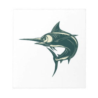 Atlantic Blue Marlin Scraperboard Notepad