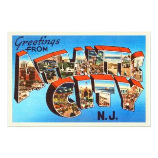 Atlantic City 1 New Jersey NJ Vintage Travel - Photographic Print