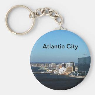 Atlantic City Basic Round Button Key Ring