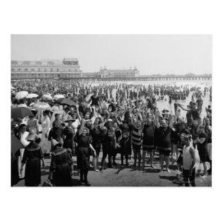 Atlantic City Beach, 1910 Postcard