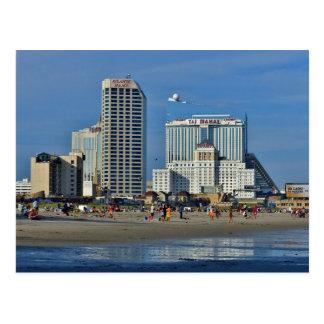 Atlantic City Beach With Casino Postcard