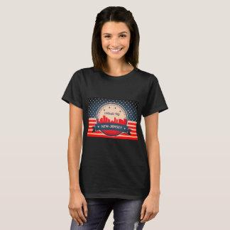 Atlantic City New Jersey Retro Skyline T-Shirt